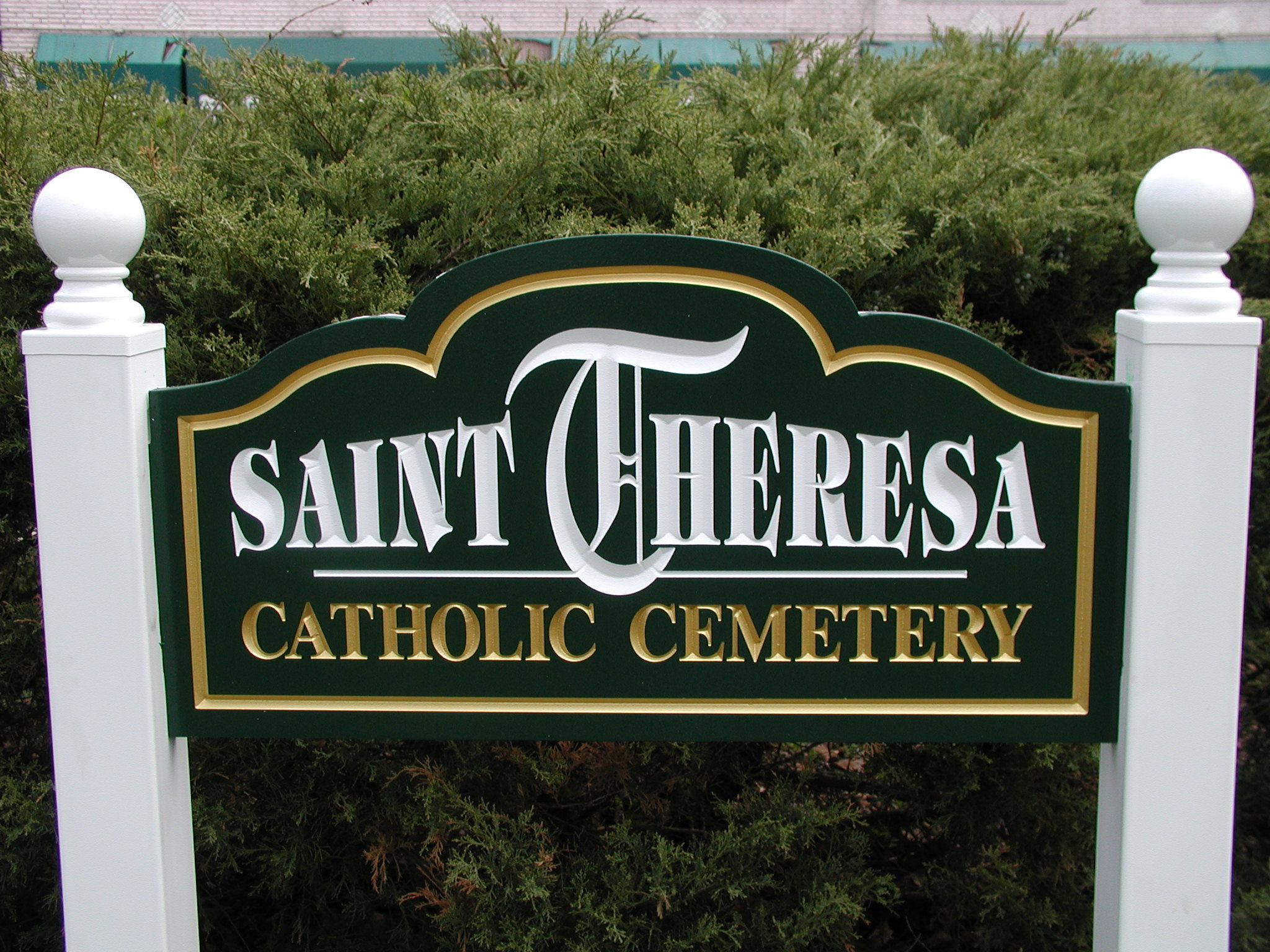 Cemetary PVC Post and Panel Sign